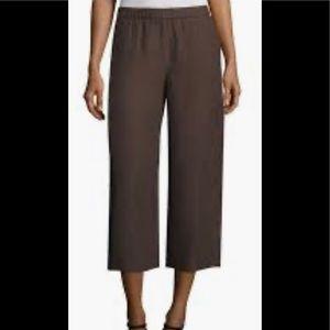 Eileen Fisher Organic Silk Crop Pant Cobblestone